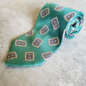 Fun Green and Gold Stone and Brooks Tie